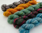 Hand dyed Mini skein pack - limited edition - Game of Thrones themed - 4ply - 5 skeins of 10g