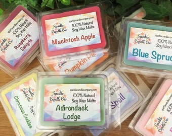 Choose any 6 Soy Wax Melts - Scented Wax Melts - Pick Six - Highly Scented Wax Tarts - 6 Packages