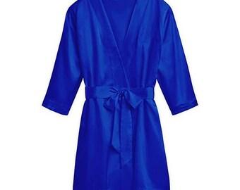 Personalized Blue Kimono Robe - Size 3XL/4XL - Women's Robe - Women's Kimono - Personalized Kimono - Valentine's Day - Ladies Birthday Gift
