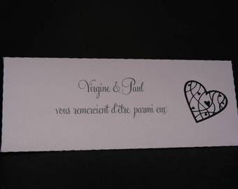 Petite baroque envelope lilac and black