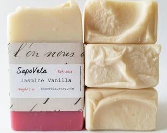 5oz Jasmine Vanilla Soap, Vegan Soap, Palm Oil Free Soap, Handmade Gift