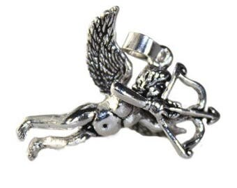 STERLING Silver Cupid Pendant valentine day gift idea