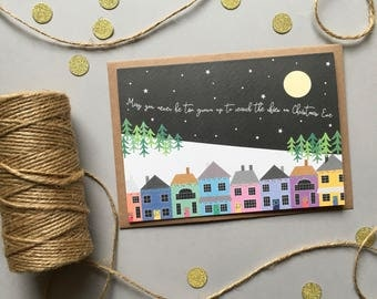 May You Never Be Too Grown Up To Search The Skies On Christmas Eve, Cute Christmas Card, Christmas Card Pack, Holiday Card Set