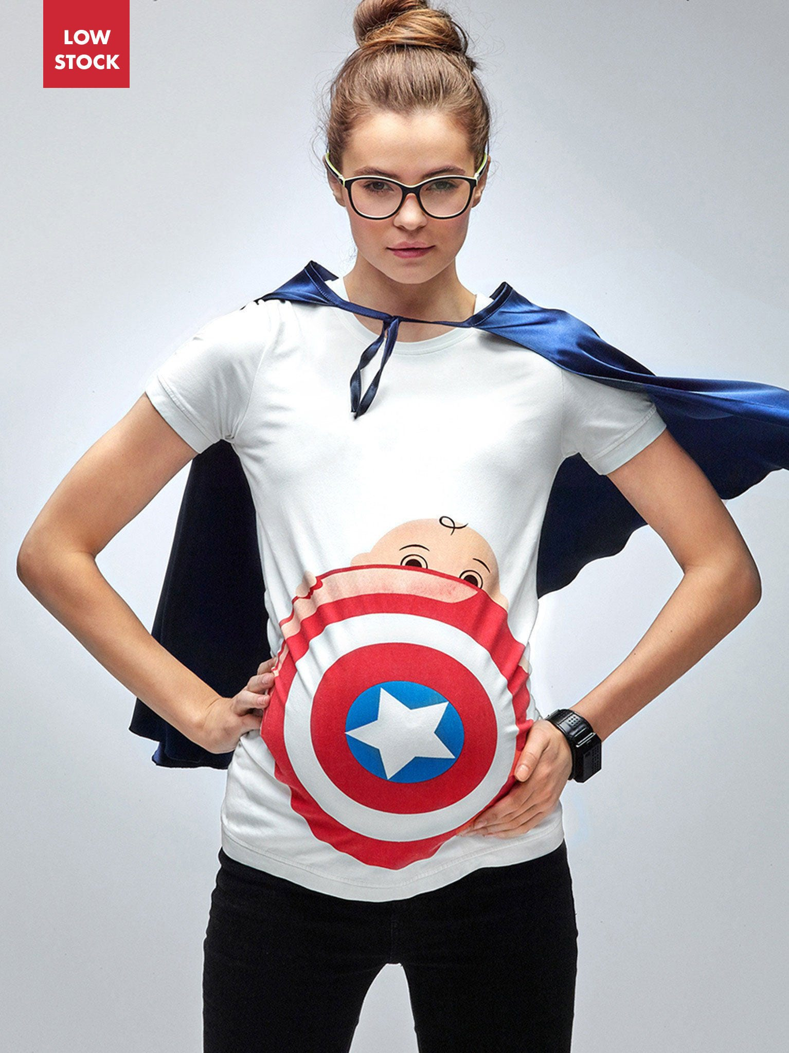 My Superhero Maternity Halloween New Captain America T Shirt