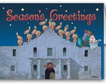 The Alamo, San Antonio Texas Christmas Card- 18 Holiday Cards & Envelopes - 40015