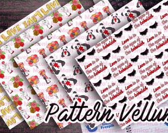 Printable Valentine's Pattern Vellum