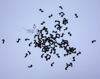 Musical Note shaped confetti