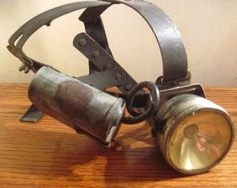 Vintage Miners Light, Head Lamp, Industrial, Steampunk