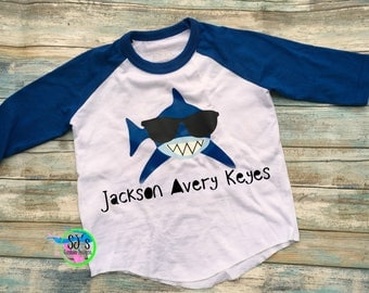 birthday shirt, Shark birthday, Shark birthday shirt, Raglan birthday, custom shirt, Shark birthday shirt, shark shirt, shark