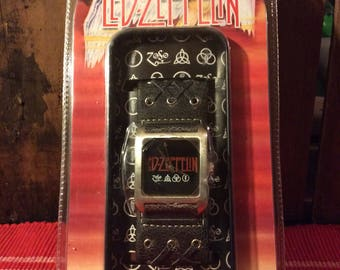 2004 Led Zeppelin leather band wrist watch (new olld stock)