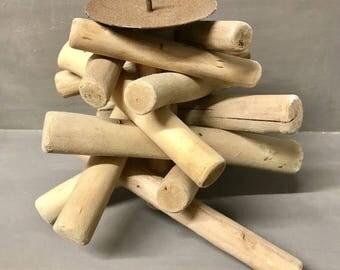 Handmade Driftwood Pillar candle holder