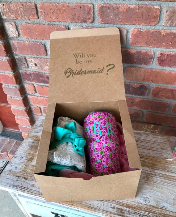Will You Be My Bridesmaid Box Bridesmaid Proposal Box