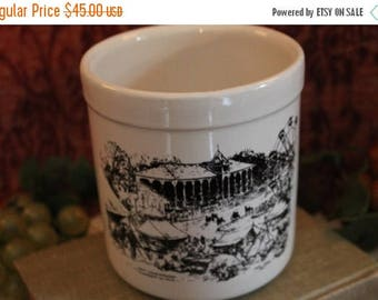 SALE 1996 Leslie Cope 150th Anniversary Muskingum County Fair on Roseville Pottery Crock - 1 quart size
