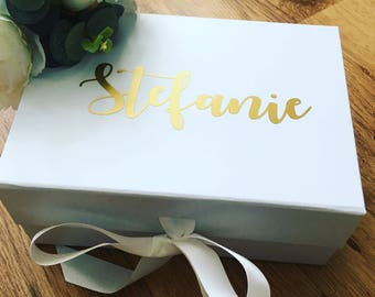 Personalised bridesmaid box, bridesmaid gift, Will you be my bridesmaid box, personalised gift box