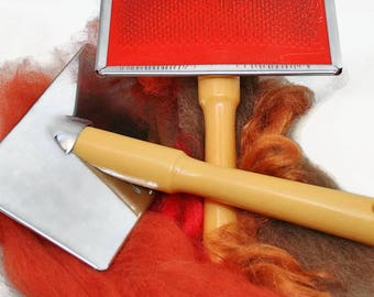 2 Hand carders - wool hand carders (pair) - blending brushes for felting - felting hand carders