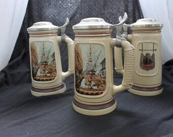 Avon Ship Builder Beer Stein