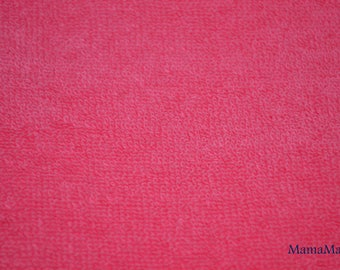 HOT PINK TERRY CLOTH