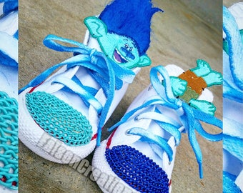 Custom Low Top Toddler Troll Theme Converse