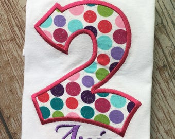 Custom embroidered birthday shirt with name
