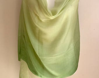 Premium Two tone green Pashmina/promotional offer/ wedding gift/ bridesmaidgifts/ Limited Offer/Free Shipping