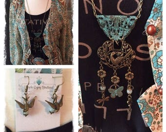 Wings of Flight Boho Necklace Set