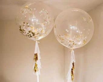 3 Jumbo confetti balloons gold metallic Gold Glitter balloon Jumbo confetti glitter gold metallic square ballonns