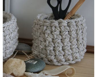 100% cotton rope basket basket planter sleek Scandinavian minilaliste crocheted