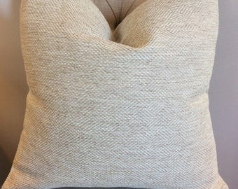 Handmade Decorative Pillow Cover - Barclay Wheat - Upholstery - Beige - Tan - Cream