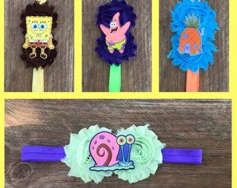 sponge/bob/square/pants/gary/patrick/pineapple/hair/Headband/cartoon/girls