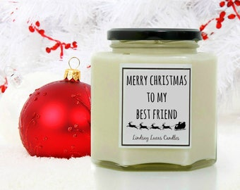 Christmas Gift For Best Friend/Bestie/BFF, Christmas Candle, Best Friend Gift, Candle, Personalised Friend Gift, Stocking Filler, Xmas Gift