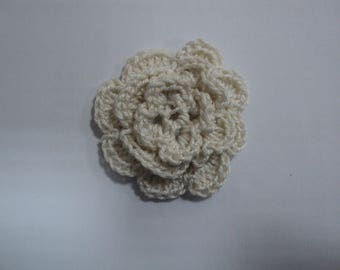 SET of 10 flowers ECRUES to CROCHET for EMBELISSEMENT ref: z37