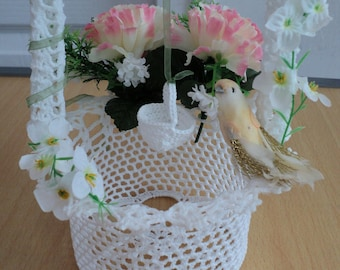 Well crocheted decor table wedding or other