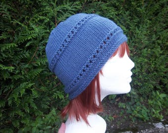 Hat woman wool (blue).