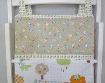 Wall shelf fabric Organizer, for child's room