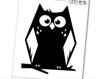 Black OWL vinyl decal