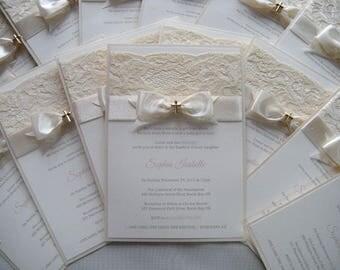 Taufe Einladung, Einladung, Hochzeit, Einladung, Pfirsich Taufe Einladung,  Erste Kommunion Einladung