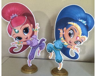 Shimmer and Shine Centerpieces, Shimmer and Shine Birthday Party