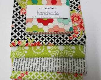 Handmade Half Yard Bundle with Charm Pack