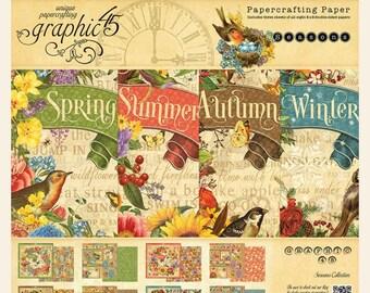 Graphic 45 Seasons 8x8 Paper Pad, SC007753