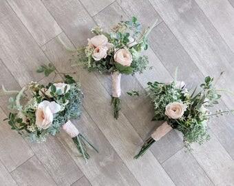 Bridesmaid Bouquet Wedding Flowers Silk Flower