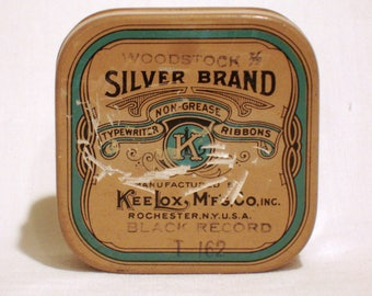 Vintage Royal Typewriter Ribbon Tin