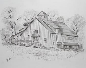 Custom Home Sketch | Architectural | 5x7 | 8x10