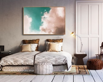 Large Canvas Art, Original Artwork, Abstract Painting, Contemporary Art, Cloud Painting, Extra large wall art, large canvas art