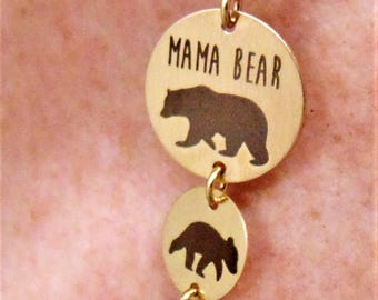 Still Available for Christmas Delivery!Mama And Baby Bear Necklace & Pendants In Yellow Gold Filled Add a Baby Bear for each Child!