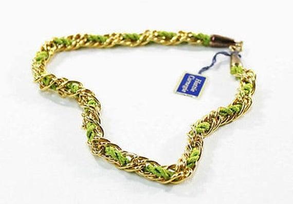 1970s Hattie Carnegie Egyptian Revival Choker Necklace