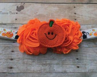 Pumpkin Headband - Pumpkin Halloween Headband - Halloween Headband - Halloween Headband for Baby - Baby Halloween Headband