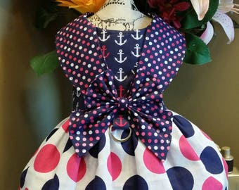 Fun sailor dog dress