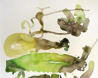 Garden Fresh, Original Watercolor Painting