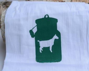 Milk Maid - Screen Printed Hand Towel