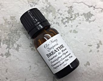 BREATHE ,  Sinus Relief, Flu and Cold Relief, Congestion Relief , Diffuser Blend , Essential Oil Blend , Aromatherapy
